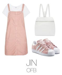 """to the fansing (bts)"" by mazera-kor ❤ liked on Polyvore featuring Splendid, Topshop, adidas Originals, Kara, bts and jin"