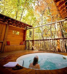 Shoji retreat Japanese hot tub in the Spa Resort of Asheville NC Infinity Pools, Oh The Places You'll Go, Places To Travel, Places To Visit, Asheville Spa, Asheville Nc Cabins, Spas, Dream Vacations, Vacation Spots