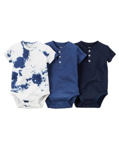 3-Pack Short-Sleeve Henley Bodysuits / these are very cute and different from a normal bodysuit