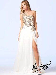 e2b44d39680 Cassandra Stone by Mac Duggal One Shoulder Evening Dress - French Novelty