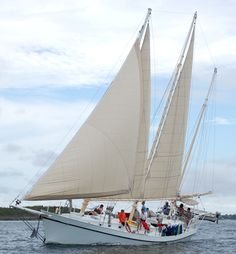 Sailing in the tropical winds in the Abaco Seas