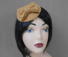 fascinator mustard colour