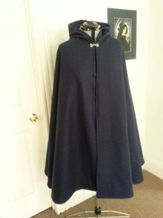 427ea70a6a0 Custom Wool Three Quarter Circle Cloak 44 by CamelotCreationscom