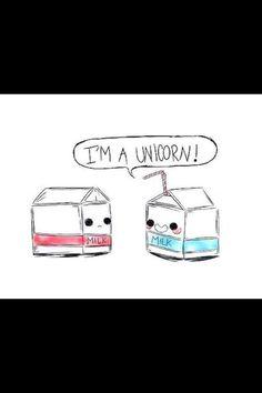 Cute blue milk box/unicorn! :) soo cute!