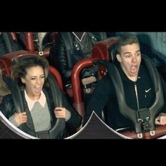 Liam and Danielle at Thorpe Park in London on March 14th. Look at how adorable they are! <3