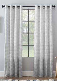 Striped Curtains, Grey Curtains, Cotton Curtains, Striped Linen, Blackout Curtains, Window Curtains, Coastal Style, Seersucker