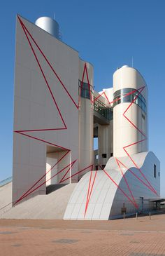 Zigzag Entre Le Cercle et La Tour in Niigata, Japan, designed by Felice Varini (2009). Supergraphics – Transforming Space: Graphic Design fo...