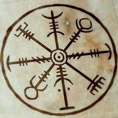 """Einingu Aðstoð"" A stavsigil (galdrastafir) designed to help create and strengthen momentum, mutual understanding, teamwork and unity in a clan or group. #seidr #asatru #magick #trolddom #sigil"