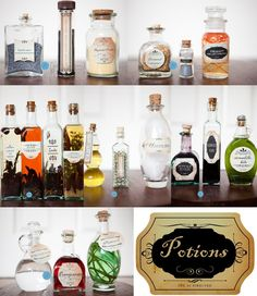 harry potter birthday party potions bottles--