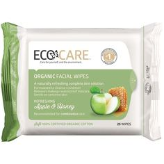 ECOCARE | Organic Facial Wipes 25pk | Apple Apple & Honey