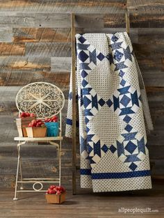 Something Blue by designer Annette Plog as seen in American Patchwork & Quilting, June 2017.