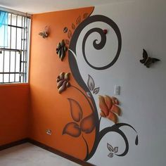 Artful paint and ebossed wall