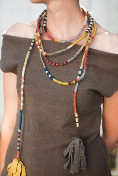 Lion's Tail wrapped necklace -- There has got to be a way to make this!  The one to buy is $350!!!