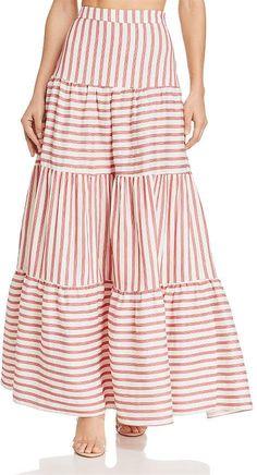 Striped Maxi Skirts, Womens Maxi Skirts, Long Skirt Outfits, Dressy Dresses, Modern Hijab Fashion, Minimal Fashion, Skirt Fashion, Fashion Dresses, Clothes