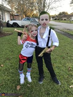 Brittany: Siblings, Bentley & Brylei Dunn, are obsessed with The Joker & Harley Quinn, so it was an easy decision to make when I asked them what they wanted to be...