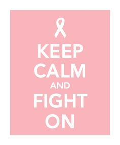 Keep Calm and Fight On Breast Cancer by smilesandsquiggles on Etsy, $10.00
