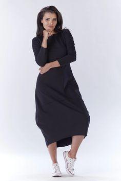 Daydress model 90495 awama – Blushgreece.shop Robes Midi, Jumper Dress, Unique Fashion, Day Dresses, Duster Coat, High Neck Dress, Calvin Klein, Boutique, Pretty