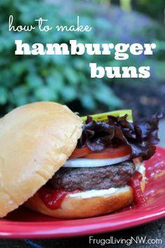 How to Make Hamburger Buns.