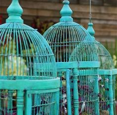Ah... bird cages at weddings...