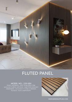 Home Room Design, Home Interior Design, Living Room Designs, Interior Decorating, House Design, Wood Wall Design, Wall Panel Design, Wood Slat Wall, Wood Slats