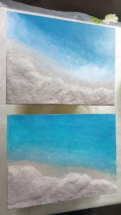 Diy Resin Wall Art, Diy Wall Art, Diy Art, Diy Resin Projects, Diy Resin Crafts, Resin Paintings, Epoxy Resin Wood, Black Sand, Ocean Art