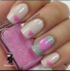 Sweet, sparkle nails. #Nails #Beauty #Manicure #Glitter #Sparkle Visit Beauty.com for more.
