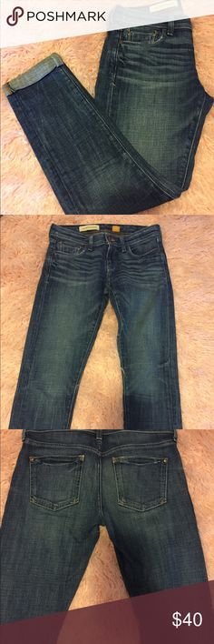 Pilcro and the Letter Press cuffed skinny jeans Pilcro and the letter press cuffed jeans. Hyphen fit. in perfect condition. Worn once. Size 26 Anthropologie Jeans Skinny