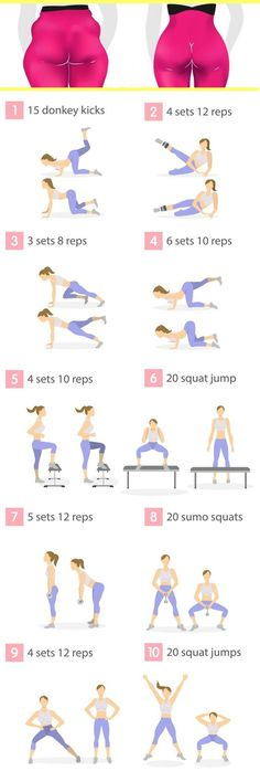 Do these 10 butt exercises every day, as an extra workout to your regular fitnes. - Do these 10 butt exercises every day, as an extra workout to your regular fitness routine. Mental Health Articles, Health And Fitness Articles, Health Fitness, Fitness Workouts, Hip Workout, Buttocks Workout, Week Workout, Woman Workout, Butt Workouts