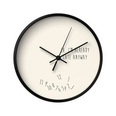 Running Late Wall Clock