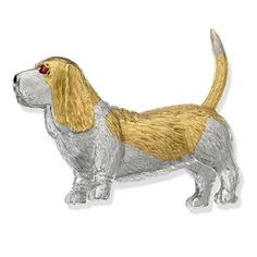Scully And Scully, Basset Hound Dog, 18k Gold Jewelry, Dog Jewelry, Cat Pin, Under The Sea, Brooch Pin, Dog Lovers, Dog Cat
