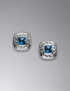 Cable Classic Earrings, Blue Topaz