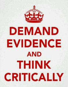 Great poster to get at the notion that science is based on evidence!