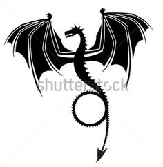 Dragon Silhouettes Editable clip arts - ClipartLogo.com