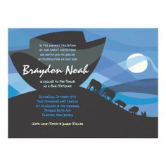 Noah's Ark Bar Bat Mitzvah Invitation Invite today price drop and special promotion. Get The best buyReview Noah's Ark Bar Bat Mitzvah Invitation Invite Here a great deal...