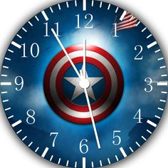 "New Captain America wall Clock 10"" will be nice Gift and Room wall Decor W428"