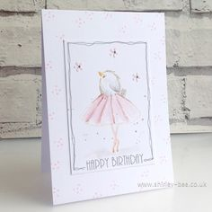 Birthday Cards, Happy Birthday, Touch Of Gold, Bees Knees, Stamping, Color Schemes, Greeting Cards, Ballet, Ballerina