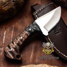 ALONZO KNIVES USA CUSTOM HANDMADE TACTICAL SKINNER 1095 KNIFE ROSE WOOD 3251 #AlonzoKnives
