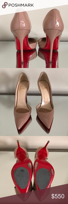 Authentic Louboutin Heels I love these heels!! I bought them when I was pregnant and know they don't fit me :/  I only used them for 2 events during my pregnancy  Accepting Reasonable Offers!!! Perfect Condition Christian Louboutin Shoes Heels