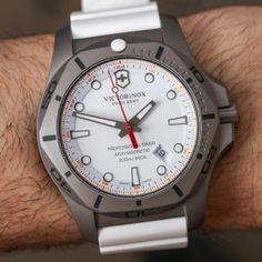 Victorinox Swiss Army INOX Professional Diver Titanium Watches Hands-On Titanium Watches, Swiss Army Watches, Victorinox Swiss Army, Casio, Rolex Watches, Hands, Clocks, Clothing, Sport Watches