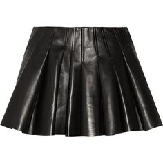 Alexander Wang Pleated leather mini skirt (9.333.425 VND) ❤ liked on Polyvore featuring skirts, mini skirts, bottoms, saias, alexander wang, black, pleated leather mini skirt, short skirts, stretch leather skirt and short mini skirts