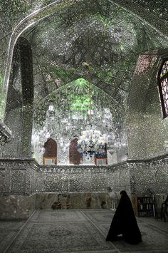 ShahCheragh, Shiraz, Iran  ~ Glittering Mirror Mosaics- if i could do my entire bathroom like this it would be awesome
