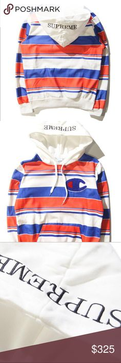 """bdea6f8a8 Champion X Supreme Hoodie 16"""" Fall It's jacket weather time, and Supreme  has linked"""