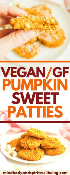 One of the best gluten free and dairy free recipes and Thanksgiving recipes the whole family will en Fall Dessert Recipes, Vegan Desserts, Thanksgiving Recipes, Fall Recipes, Snack Recipes, Vegan Sweets, Vegan Snacks, Gluten Free Pumpkin, Vegan Pumpkin