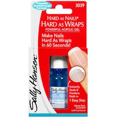 DIY shellac nails....Sally Hansen Hard As Nails Hard As Wraps Acrylic Gel, 0.44 fl oz(walmart)
