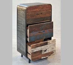 Industrial cupboard made of pieces