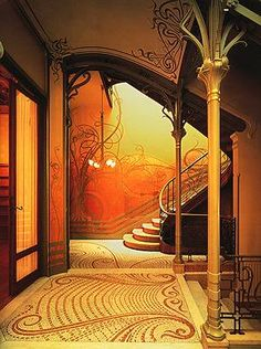 Art Nouveau  Victor Horta, Belgian, 1861 - 1947