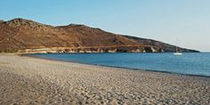 Psili Ammos Beach in Serifos Island, Greece