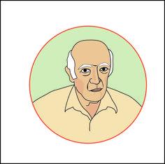 Hilda Souto. Idoso. Ilustração digital para site.