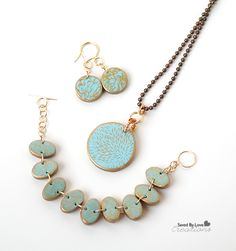 How to Make Silkscreened Polymer Clay Jewelry (you will need more than just regular clay tools, but so pretty!)