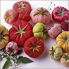 Martha's Garden Tomato Pincushion Pattern plus 9 more